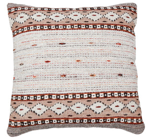 Handwoven Zapotec Indian Pillow - Phases of the Moon Wool Oaxacan Textile