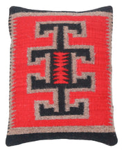 Load image into Gallery viewer, Handwoven Zapotec Indian Pillow - Kaibito Red Wool Oaxacan Textile