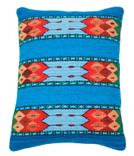 Load image into Gallery viewer, Handwoven Zapotec Indian Pillow- La Playa Wool Oaxacan Textile