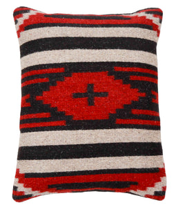 Handwoven Zapotec Indian Pillow - Third Phase Cross Wool Oaxacan Textile