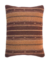 Load image into Gallery viewer, Handwoven Zapotec Indian Pillow - Earth Olas Wool Oaxacan Textile