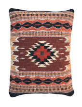 Load image into Gallery viewer, Handwoven Zapotec Indian Pillow - Saltillo Negro Wool Oaxacan Textile