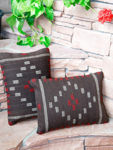 Handwoven Zapotec Indian Pillow - First Mesa Chocolate Wool Oaxacan Textile