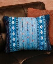 Load image into Gallery viewer, Handwoven Zapotec Indian Pillow - Night Stars Wool Oaxacan Textile