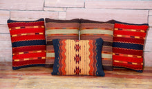 Load image into Gallery viewer, Handwoven Zapotec Indian Pillow - Triquis Rojo Wool Oaxacan Textile