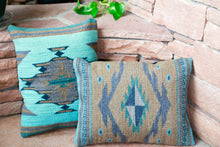 Load image into Gallery viewer, Handwoven Zapotec Indian Pillow - Vallarta Wool Oaxacan Textile