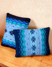 Load image into Gallery viewer, Handwoven Zapotec Indian Pillow - Zapotec Midnight Wool Oaxacan Textile