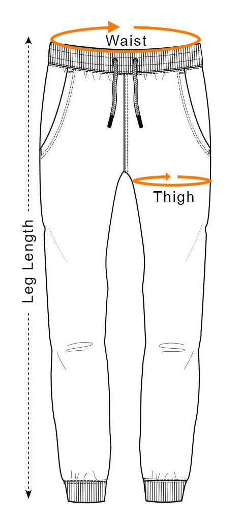 Sweatpants Measurement Guide