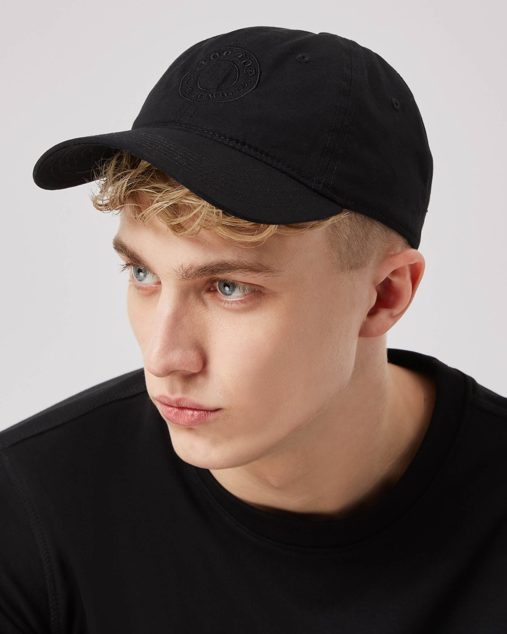 Black Baseball Cap Low Profile
