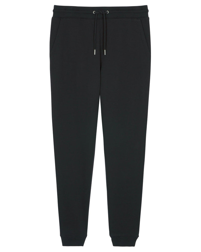 Men's Black Sweatpants in Brushed Cotton