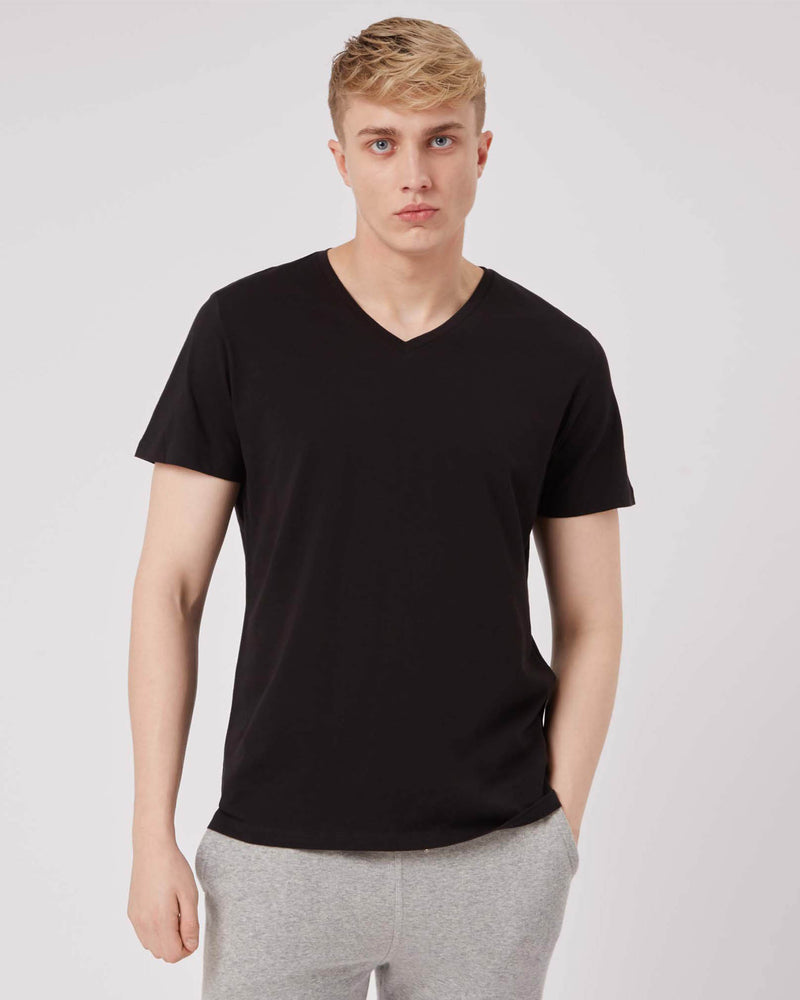 Men's Black Vneck Tee