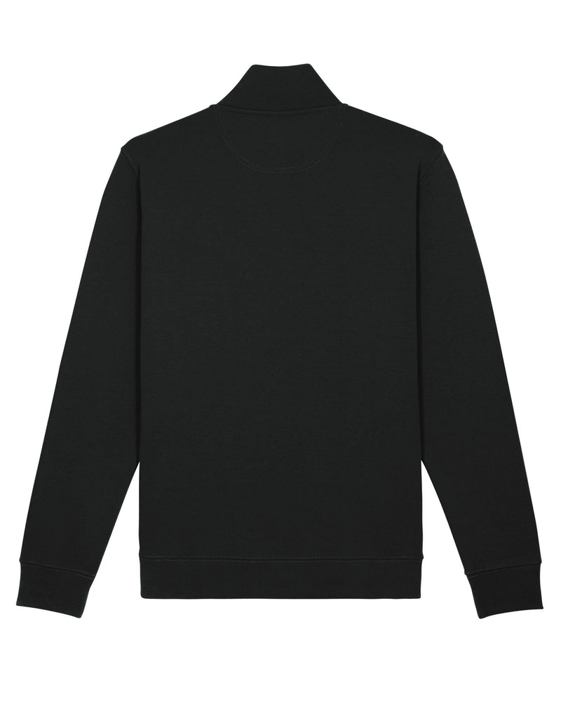Black Halfzip Sweatshirt back detail