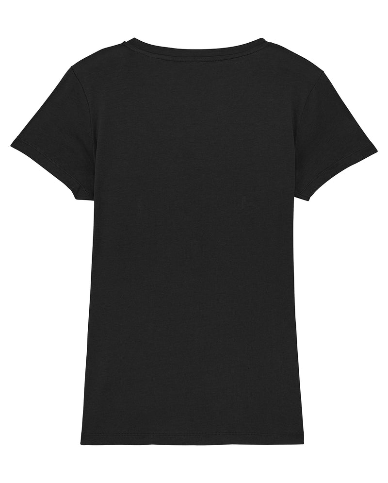 Women's Black Vneck Tee - Back Detail