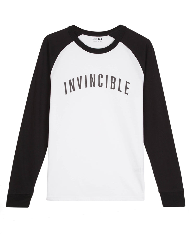 long sleeve baseball tee slogan