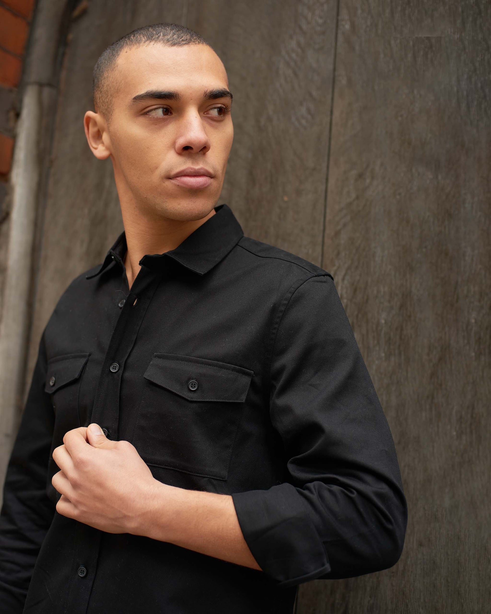 mens-black-shirt-military-style