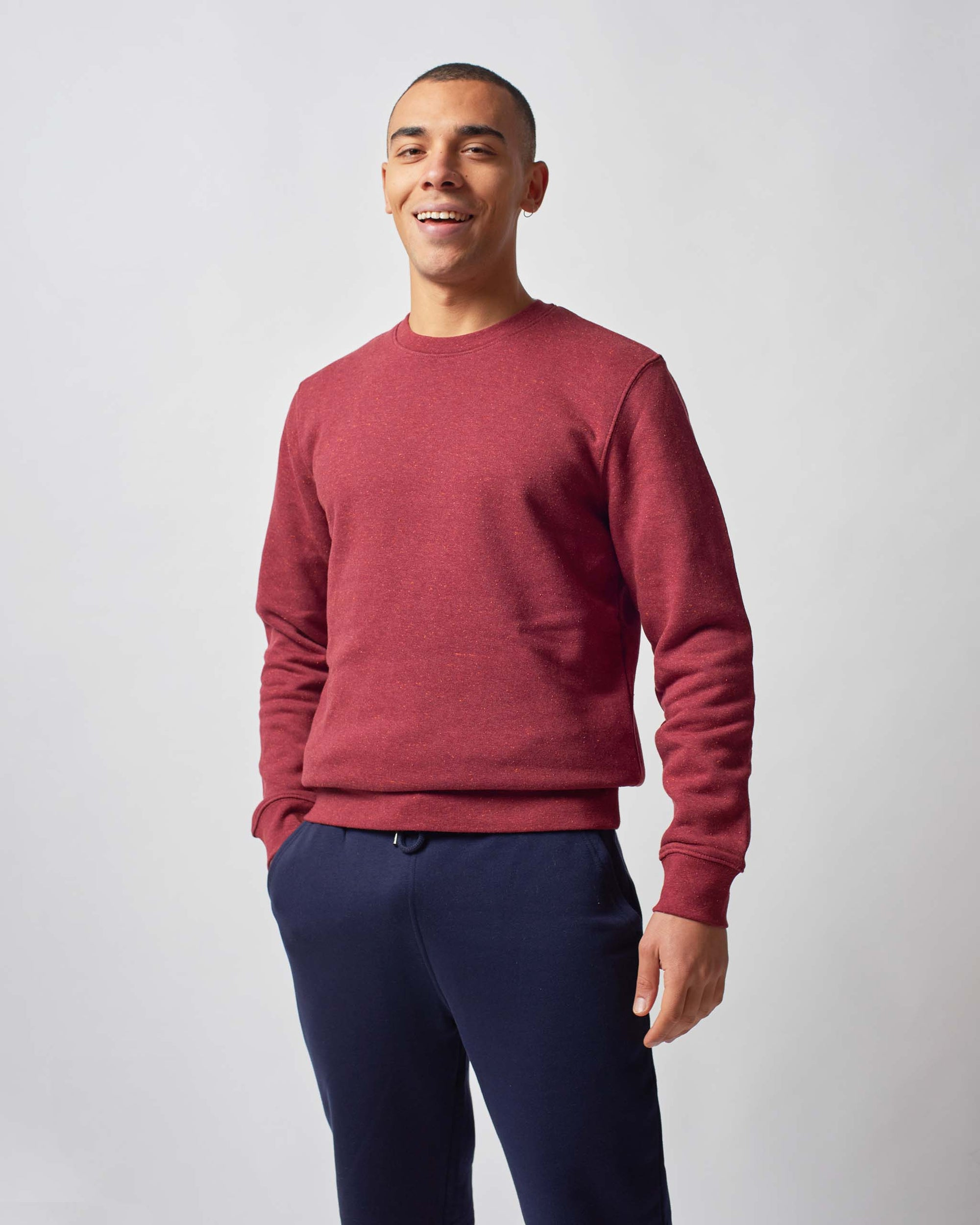 mens red sweatshirt