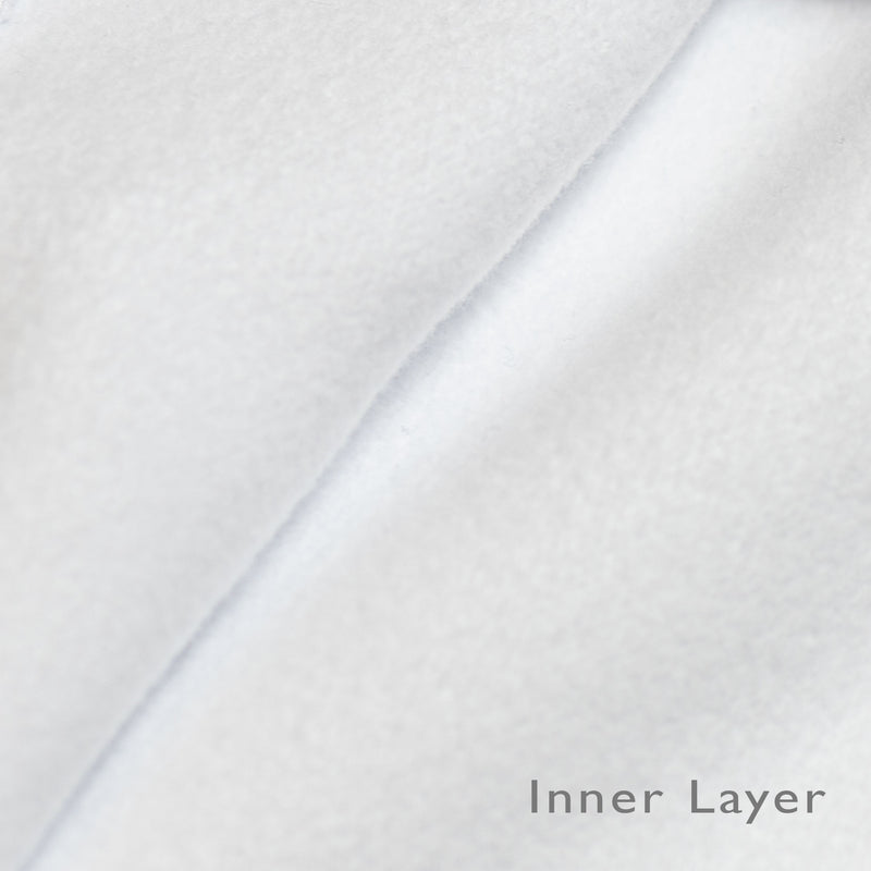 brushed cotton inner layer