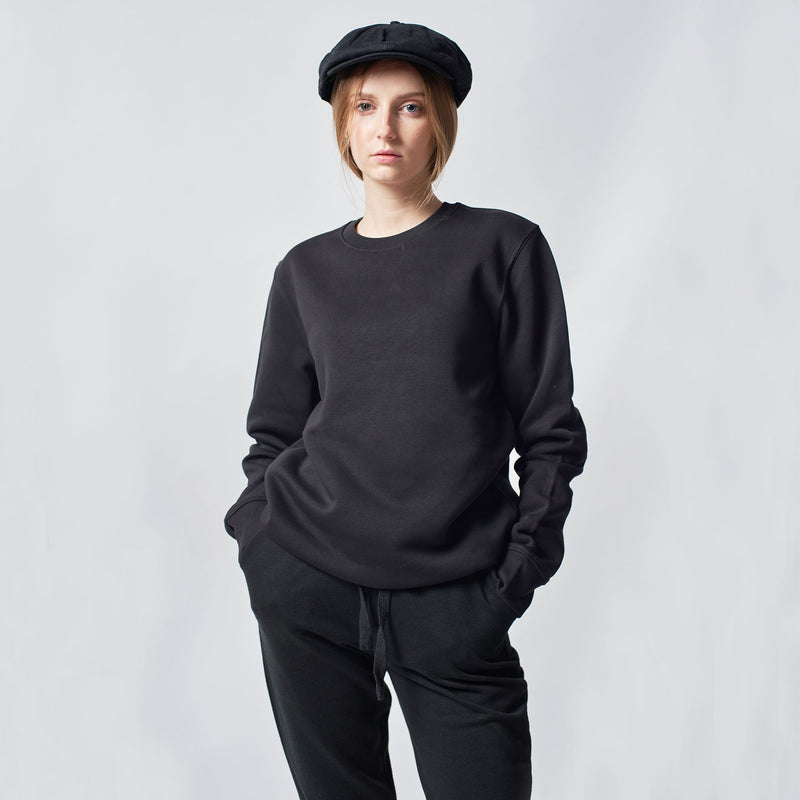 womens-plain-black-sweatshirt