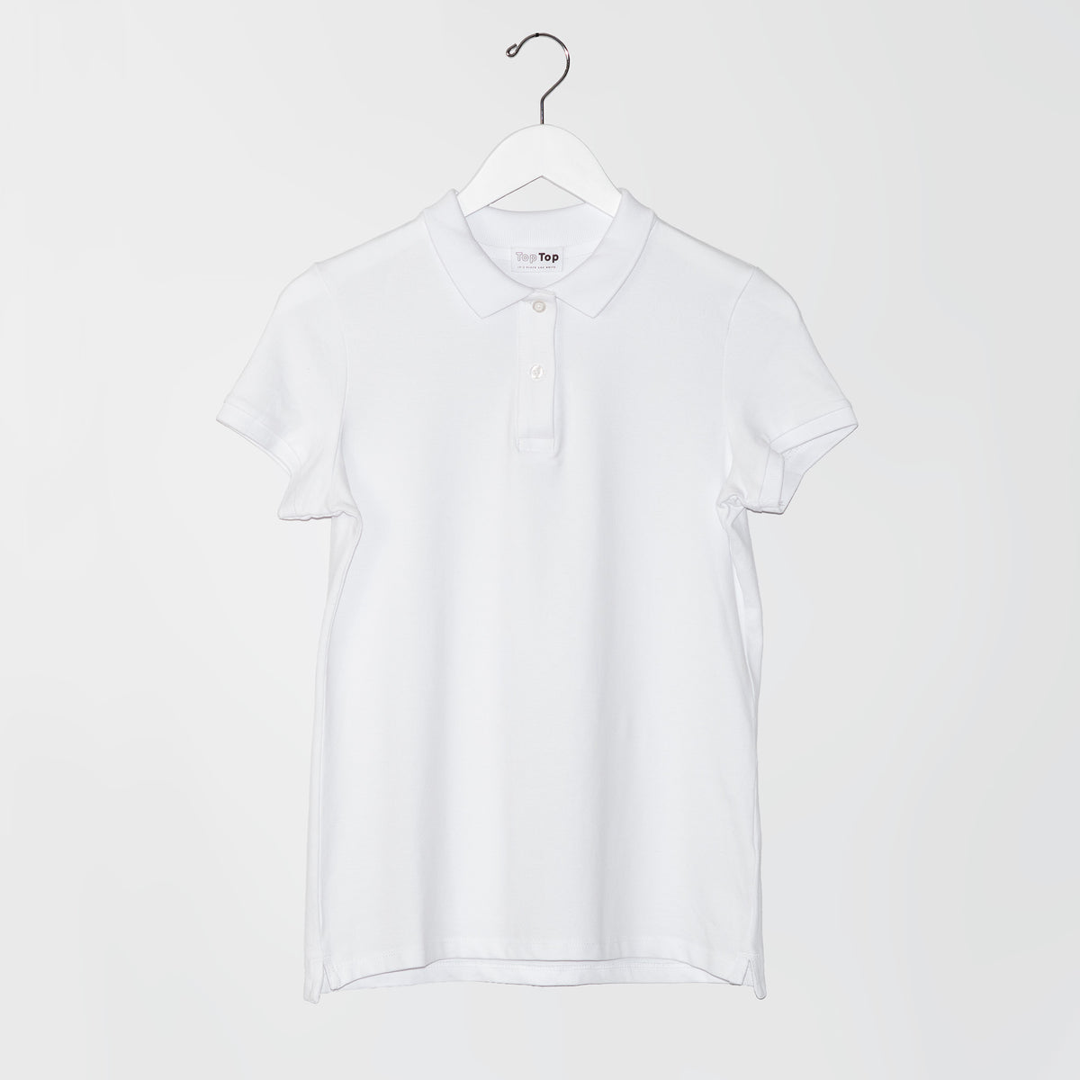 Women's White Polo Shirt in Cotton Piqué