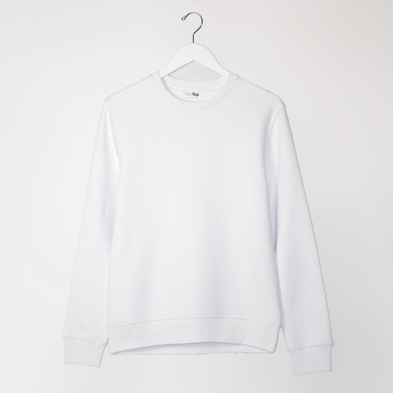 womens white sweatshirt