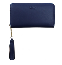 Load image into Gallery viewer, ink navy peony wallet