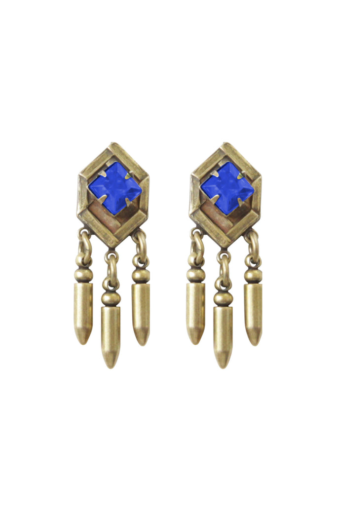 folly nicole glass teardrop weldon earrings cobalt