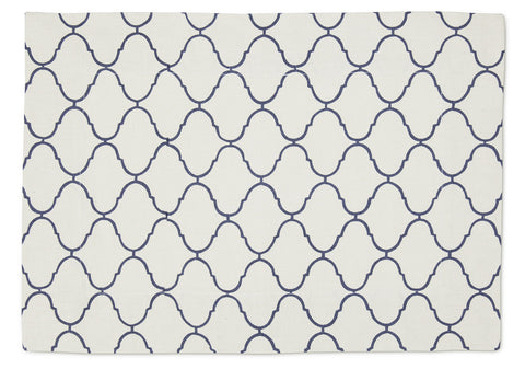 Placemat Cobalt Large Hourglass