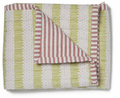HUG ME TIGHT BLANKET, Nursery, Girl, Pink/ Green