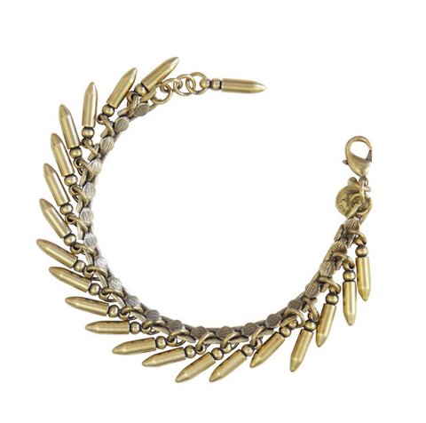 BULLET BRACELET IN BRASS | LOREN HOPE