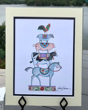 Load image into Gallery viewer, Standing Tall Together ~ Sketch Art Print