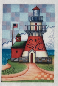 Mini Fabric Panel ~ Magestic Lighthouse