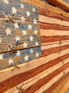Framed In Glory ~ Wooden Flag