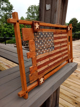 Load image into Gallery viewer, Framed In Glory ~ Wooden Flag