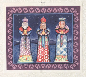 Mini Fabric Panel ~ Three Wise Men