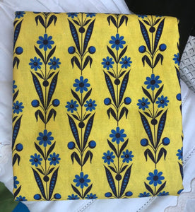 Somerset Collection Daisy Bouquet Yellow ~ Fabric By The Yard