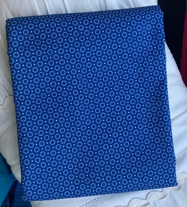 Somerset Collection Dotted Circle Blue ~ Fabric By The Yard