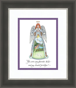 Rainbow Bridge Angel ~ Sketch Art Print