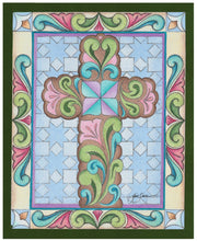 Load image into Gallery viewer, Rosemaling Cross ~ Sketch Art Print