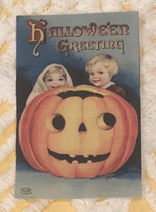 Fabric Postcard ~ Halloween Greeting