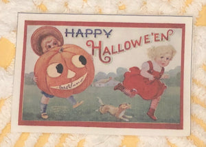 Fabric Postcard ~ Happy Halloween