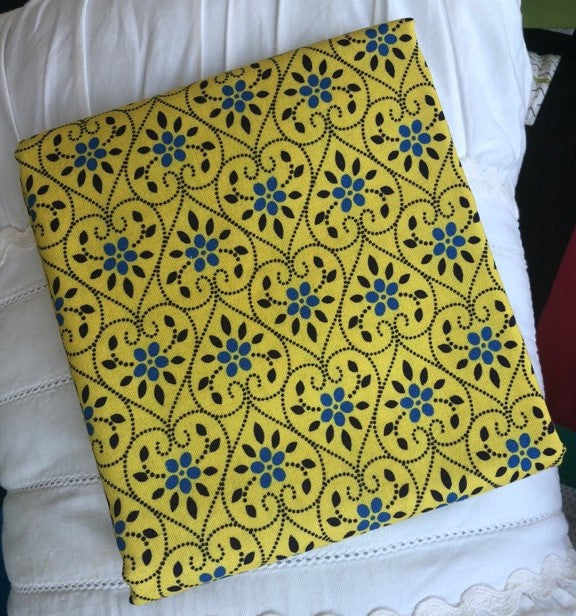 Somerset Collection Yellow Hearts ~ Fabric By The Yard
