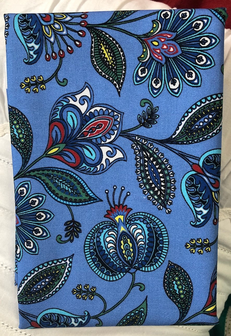 Orleans Blue ~ Fabric By The Yard / Half Yard/ Fat Quarter