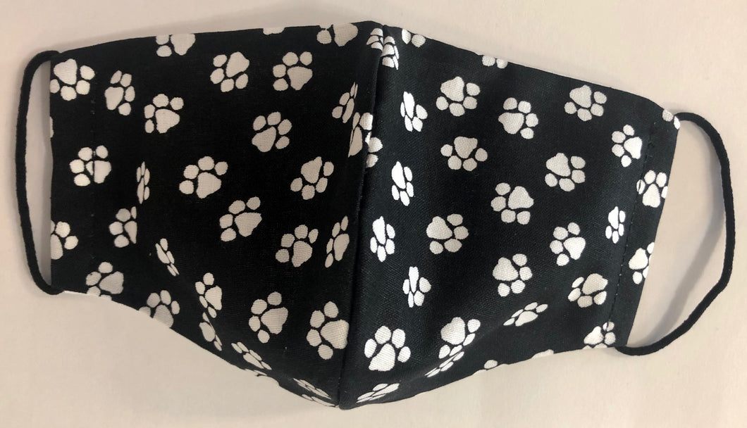 Fabric Face Mask - Paw Prints