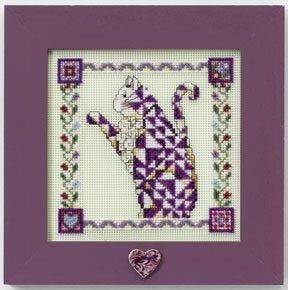 Cross Stitch Kit ~ Petunia Quilted Cat