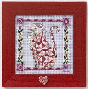 Cross Stitch Kit ~ Scarlet Quilted Cat