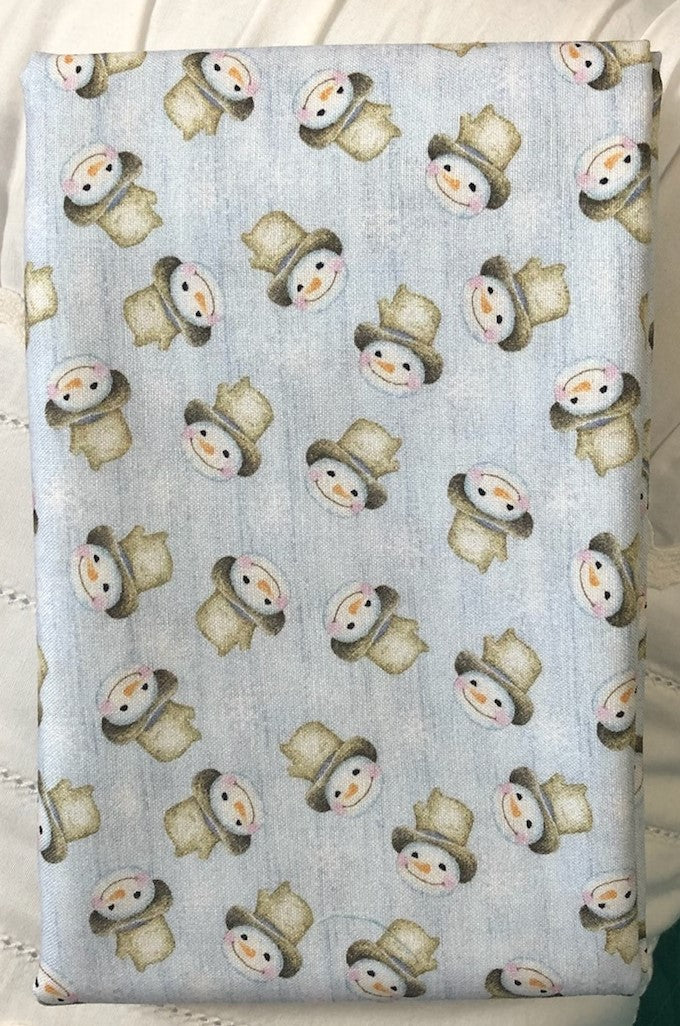 White Woodland Snow Fun Medium Periwinkle ~ Fabric By The Yard