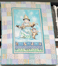 Load image into Gallery viewer, White Woodland Snowman ~ Throw Sized Quilt Kit