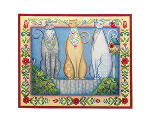Three Wise Cats ~ Print