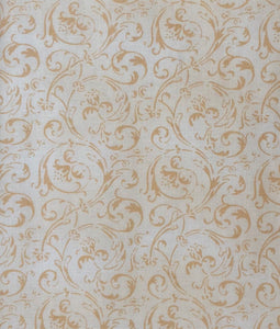 Touched By An Angel Swirls Tan & Ivory ~ Fabric By The Yard