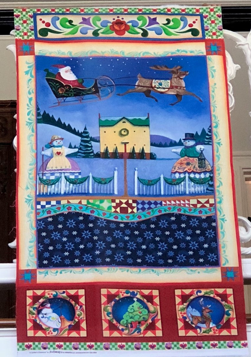 A Quilter's Christmas Collection  Village Scene ~ Panel